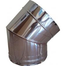 Ημίγωνο 45ο inox μονού τοιχώματος 0,4mm και 0,5mm AISI 304 και 316