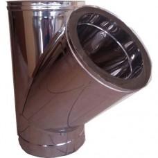 Ημιταφ 45ο inox διπλού τοιχώματος 0,4mm και 0,5mm AISI 304 και 316
