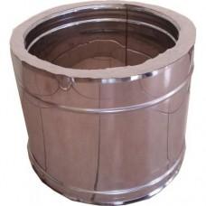 Καπνοδόχος Ρυθμιζόμενος 0,30m -0,45m  inox διπλού τοιχώματος