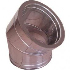 Ημίγωνο 45ο inox διπλού τοιχώματος 0,4mm και 0,5mm AISI 304 και 316