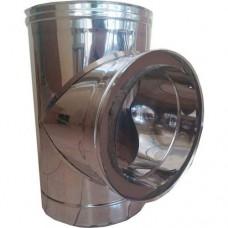ΤΑΦ 90o inox διπλού τοιχώματος 0,4mm και 0,5mm AISI 304 και 316